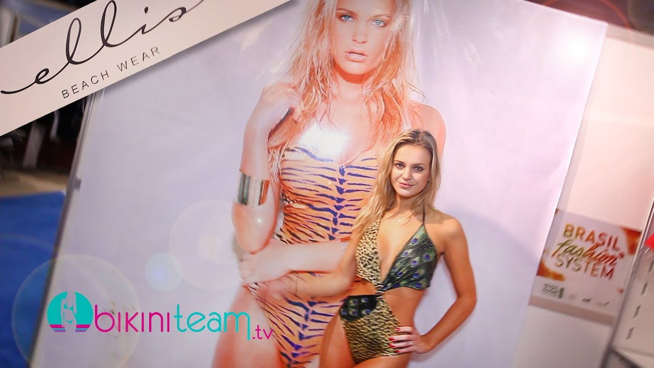 Elisandra Tomacheski with Jaquie Ohh at Ellis Beach Wear Booth SwimShow 2013