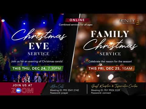 Trinity Christian Centre - Sun 8.30am (SGT) English Online Service