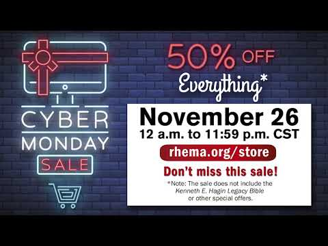 Cyber Monday Is In Progress - Take 50% off of Everything* on rhema.org/store