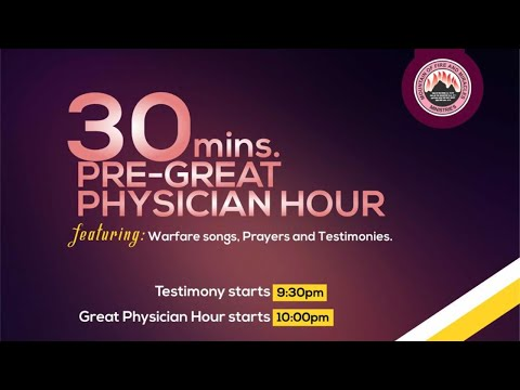 GREAT PHYSICIAN HOUR OCT 17TH 2020 MINISTERING: DR D.K. OLUKOYA