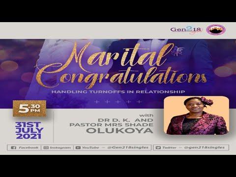 MFM Gen218 Singles - Marital Congratulations with Pastor (Mrs) Shade Olukoya