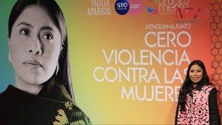 Yalitza Aparicio abandera campaña Cero violencia contra la Mujer en el GIFF
