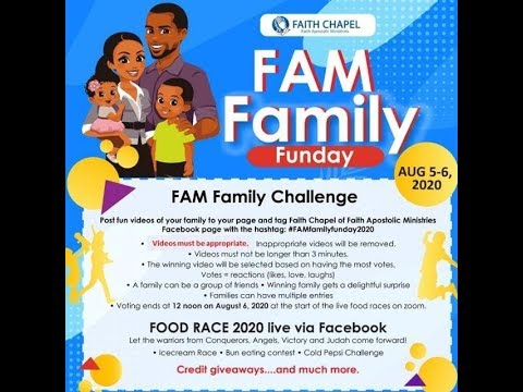 FAM Family Funday- Food Races 2020