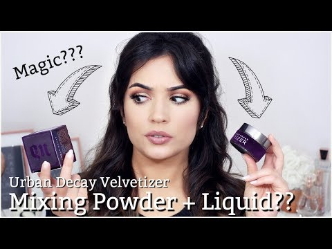 Mixing Powder into Liquid Foundation!? How to Use Urban Decay Velvetizer - UC-1-zPmT368J8JRbsK_1keA