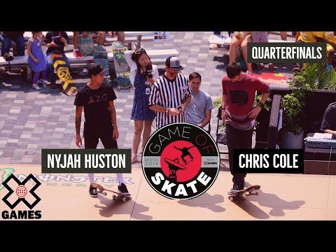 Nyjah Huston vs. Chris Cole Game of Skate Quarterfinals - World of X Games - UCxFt75OIIvoN4AaL7lJxtTg