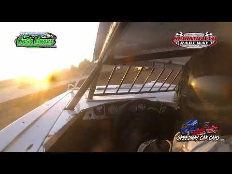 #116 Dallas Sales - Cash Money Late Model - 8-14-2021 Springfield Raceway - In Car Camera - dirt track racing video image