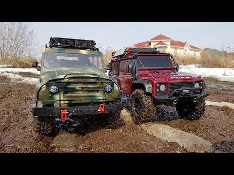 УАЗ против Land Rover ... Сравнительный тест-драйв (SCX10 и TRX-4) - UCX2-frpuBe3e99K7lDQxT7Q