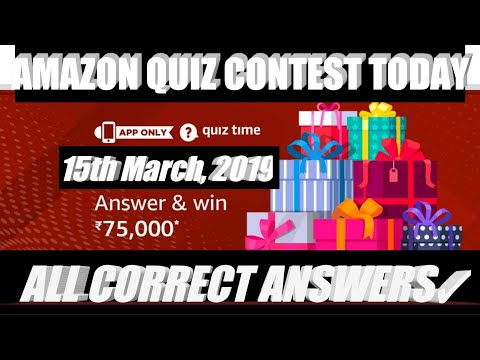 AMAZON QUIZ CONTEST ANSWERS TODAY TO WIN RS 75,000 AS AMAZON PAY BALANCE, 15th MARCH, 2019