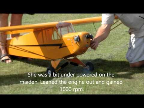 Balsa USA 1/4 Scale Cub maiden flight - UCbWRzNjaO7wyO53qwl0wccQ