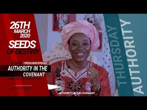 Dr Becky Paul-Enenche - SEEDS OF DESTINY  THURSDAY, 26 MARCH, 2020