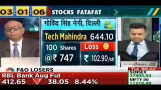 Stocks Fatafat 30 /07/2019 view on Tech Mahindra IndusInd Bank Indiabulls Hsg