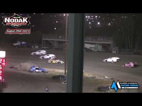 Nodak Speedway IMCA Modified A-Main (8/29/21) - dirt track racing video image