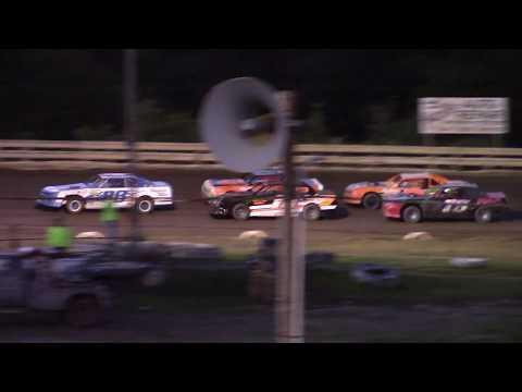 Feature Results:  1st) #88 Josh Fields 2nd) #00 Justin Watt (-1.241 secs) DNF) #81 Steve Brugmann (-10 Laps) DNF) #13 Victor Earle Jr. (-10 Laps) DNF) #55X Andy Frey (-10 Laps) DNF) #516 Rich Anderson (-10 Laps) DNF) #75 Wayne Garvey (-10 Laps) DNF) #113 Ben Ecelberger (-13 Laps) - dirt track racing video image