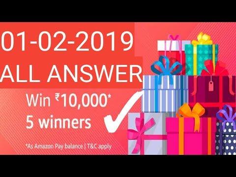 Today Amazon quiz win 10,000rs