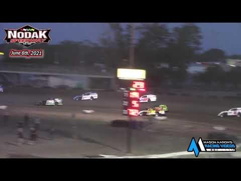 Nodak Speedway IMCA Modified A-Main (6/6/21) - dirt track racing video image
