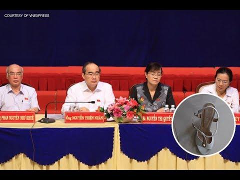 Cử tri Thủ Thiêm ném dép giữa cuộc đối thoại với TPHCM