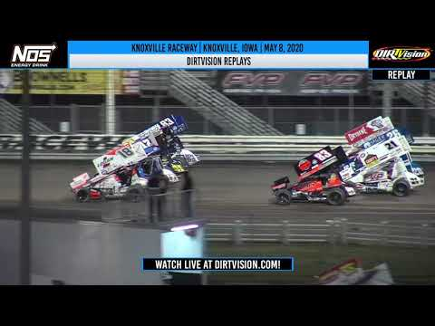 DIRTVision Replays from Knoxville Raceway in Knoxville, Iowa on May 8th, 2020- World of Outlaws NOS Energy Drink Sprint Car Series - dirt track racing video image