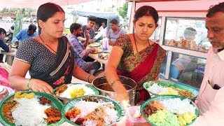 Hard Working Sisters Selling Best Roadside Food Hyderabad   Chicken,Boti @70Rs   Veg @50 Rs only