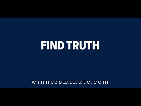 Find Truth // The Winner's Minute With Mac Hammond