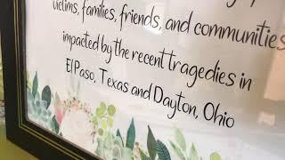 Tucson Condolence books for El Paso & Dayton