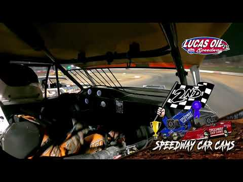 #54 David Hendrix - Usra Stock Car - 10-8-2021 Lucas Oil Speedway - In Car Camera - dirt track racing video image