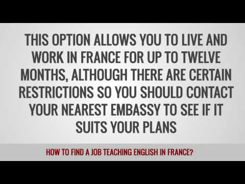 video about your TEFL job opportunities in France