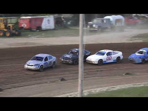 Flinn Stock Make-up A-Feature at Crystal Motor Speedway, Michigan on 08-07-2021!! - dirt track racing video image