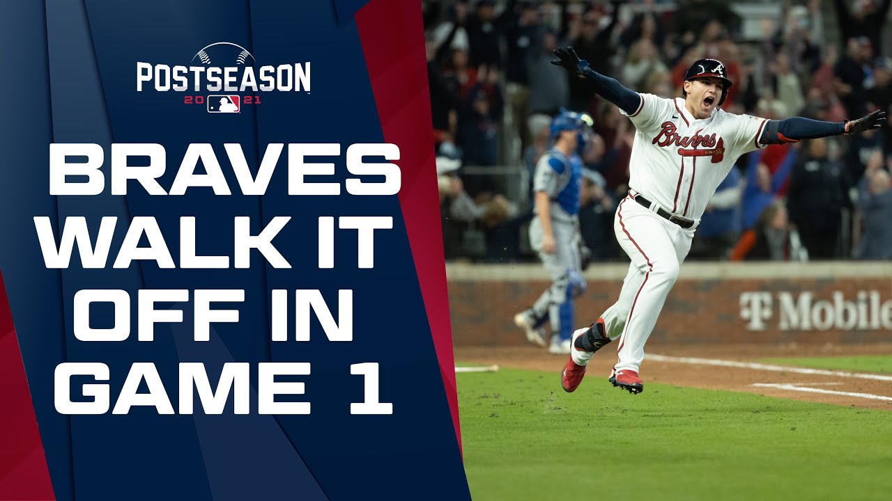 Braves WALK IT OFF in NLCS Game 1! Austin Riley drives in Ozzie Albies to win a thriller in Atlanta!