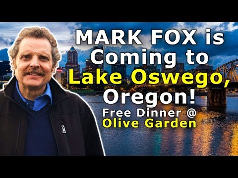 Breaking: Mark Fox is Coming to Portland area Dec. 27! Free Dinner at Olive Garden! You are invited!