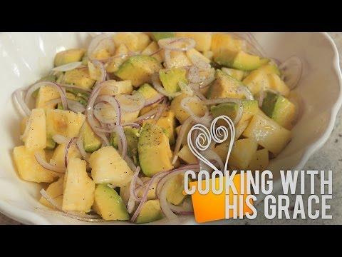 Ensalada de Aguacate con Piña- Cocinando Con Su Gracia - UC6ENCVo_3-Qw3mGUSt7wGwg