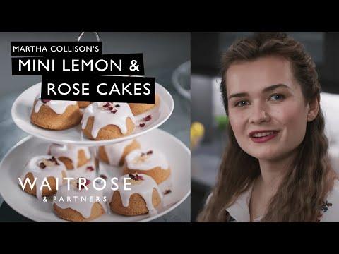Martha Collison's Mini Lemon & Rose Cakes   Waitrose & Partners