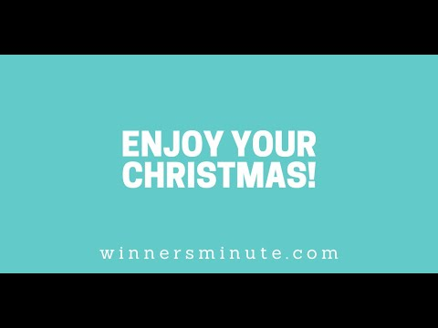 Enjoy Your Christmas! // The Winner's Minute With Mac Hammond