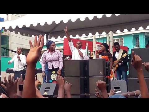 BUKOLA BEKES @ PRAISE AFLAME COMPUTER VILLAGE 2016  LAGOS NIGERIA.