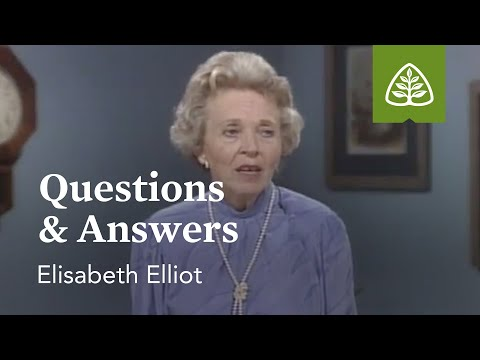 Questions & Answers: Suffering Is Not For Nothing with Elisabeth Elliot