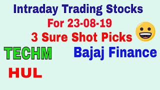 Intraday Trading Stock tips for tomorrow # Strong level in hindi with Strategy || 23-08-2019 ||TT
