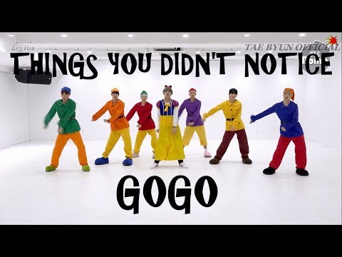 BTS THINGS YOU DIDN'T NOTICE IN GOGO DANCE PRACTICE(HALLOWEEN VER)