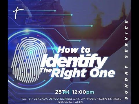How To Identify The Right One  Pst Bolaji Idowu  25th April 2021