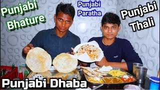 Punjabi Dhaba - Punjabi Thali Bhatura & Paratha | Punjabi Dhaba In Agra | Agra Street Food |