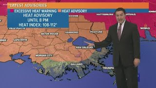 New Orleans Weather: Heat advisory Tuesday with scattered storms