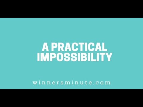 A Practical Impossibility // The Winner's Minute With Mac Hammond