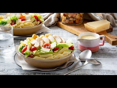 [EN] Chicken Caesar Pasta Salad / سلطة سيزر بالدجاج والمعكرونة - CookingWithAlia - Episode 742 - UCB8yzUOYzM30kGjwc97_Fvw