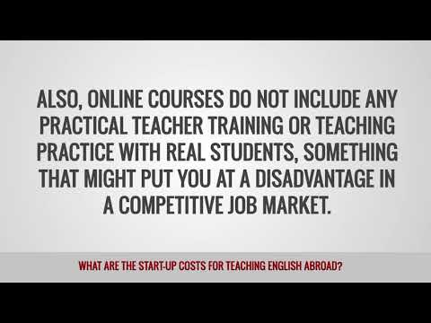 video telling about the money you will need for a start to teach TEFL students abroad