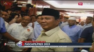 Prabowo Subianto Mengaku Belum Terima Utusan Jokowi - BIM 18/04