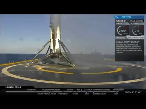 SpaceX lands Falcon 9 first stage on drone ship [CRS-8] - default