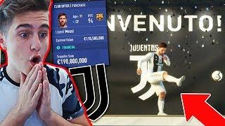 $190,000,000 PENTRU LIONEL MESSI LA JUVENTUS !!!   Cariera cu Juventus - FIFA 19