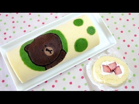 LINE Swiss Roll Cake ライン コラボ ブラウンのスイスロールケーキ - UC2zXd5Kq9Hu-_bwO1H7CD0g