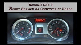 Reset service Renault Clio 3 da 2005