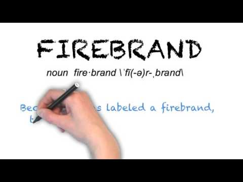 How to Pronounce 'FIREBRAND'- English Grammar
