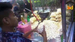 ►How To Fry and Pack Pop Corn On Street II Masala Mix Testy Food II Street Pop Corn Seller