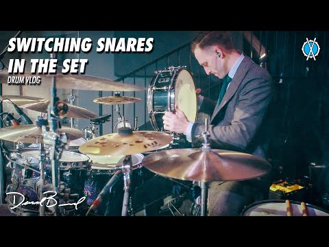 Switching Snares In The Set // Drum Vlog